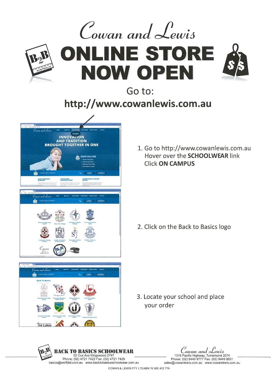 School Uniform - now offering online ordering - Metella Road